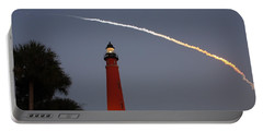 Discovery Booster Separation Over Ponce Inlet Lighthouse Portable Battery Charger by Paul Rebmann