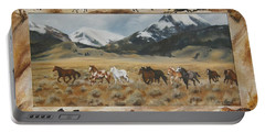 Discovery Horses Framed Portable Battery Charger