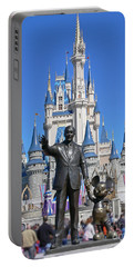 Disney And Mickey Portable Battery Charger by Kevin Fortier