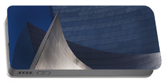 Disney Hall Abstract Portable Battery Charger by Rona Black