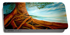 Portable Battery Charger featuring the painting Distant Shores Rejoice by Meaghan Troup