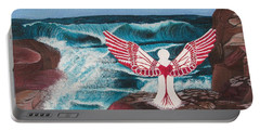 Portable Battery Charger featuring the painting Divine Power by Cheryl Bailey