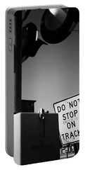 Portable Battery Charger featuring the photograph Do Not Stop Dancing On Tracks by Jason Politte