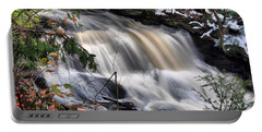 Doane's Lower Falls In Central Mass. Portable Battery Charger by Mitchell R Grosky
