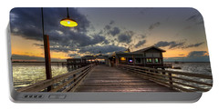 Dock Lights At Jekyll Island Portable Battery Charger