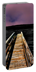 Portable Battery Charger featuring the photograph Dock Shadows Bristol Rhode Island by Tom Prendergast