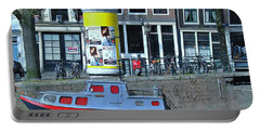 Portable Battery Charger featuring the photograph Docked In Amsterdam by Allen Beatty