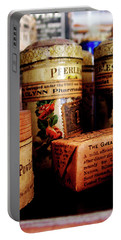 Portable Battery Charger featuring the photograph Doctor - Liver Pills In General Store by Susan Savad