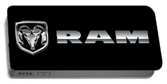 Dodge Ram Logo Portable Battery Charger