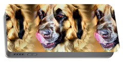 Portable Battery Charger featuring the digital art Dog by Daniel Janda