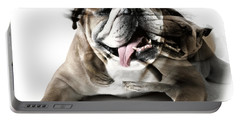 Dog Mastiff Portable Battery Charger by Evgeniy Lankin