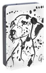 Portable Battery Charger featuring the painting Dog Spot by Go Van Kampen