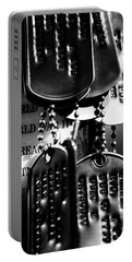 Portable Battery Charger featuring the photograph Dog Tags From War by Steven Santamour