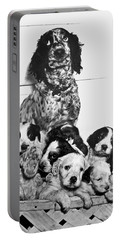 Dog With Twelve Puppies Portable Battery Charger