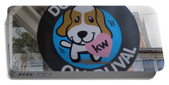 Portable Battery Charger featuring the photograph Dogs On Duval by Fiona Kennard