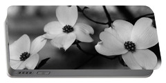 Dogwood Black And White Portable Battery Charger
