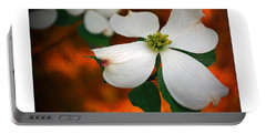Dogwood Blossom Portable Battery Charger by Brian Wallace