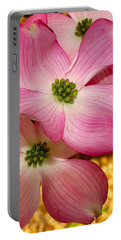 Dogwood In Pink Portable Battery Charger by Roger Becker