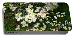 Portable Battery Charger featuring the painting Dogwoods Virginia by Melly Terpening