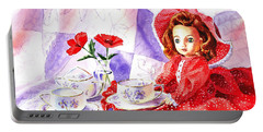 Doll At The Tea Party  Portable Battery Charger