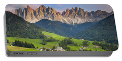 Dolomites From Val Di Funes Portable Battery Charger