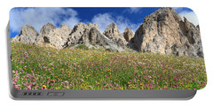 Portable Battery Charger featuring the photograph Dolomiti - Flowered Meadow  by Antonio Scarpi