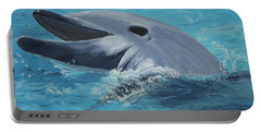 Dolphin At Play Portable Battery Charger