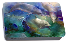 Dolphin Dream Portable Battery Charger by Carol Cavalaris
