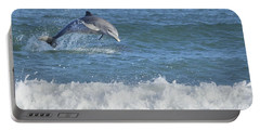 Dolphin In Surf Portable Battery Charger