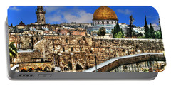 Portable Battery Charger featuring the photograph Dome Of The Rock by Doc Braham