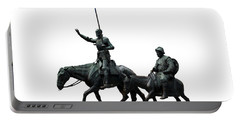 Portable Battery Charger featuring the photograph Don Quixote And Sancho Panza  by Fabrizio Troiani