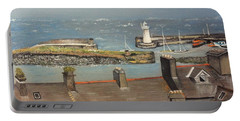 Portable Battery Charger featuring the painting Donaghadee Ireland Irish Sea by Brenda Brown