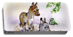 Donkeys Portable Battery Charger by Diane Matthes