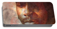 Donny Hathaway Portable Battery Charger by Vannetta Ferguson
