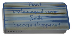 Don't Cry.....1 Portable Battery Charger by Wendy Wilton