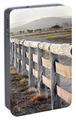Portable Battery Charger featuring the photograph Don't Fence Me In by Holly Kempe