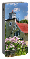 Door County Eagle Bluff Lighthouse Lilacs Portable Battery Charger