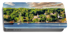 Door County Ephraim Harbor Sunset  Panorama Portable Battery Charger