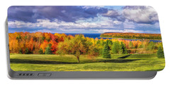 Door County Grand View Scenic Overlook Panorama Portable Battery Charger
