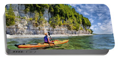 Door County Kayaking Around Rock Island State Park Portable Battery Charger