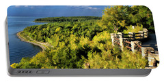 Door County Peninsula State Park Svens Bluff Overlook Portable Battery Charger