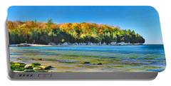 Door County Wisconsin Bay Panorama Portable Battery Charger
