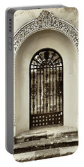 Door With Decorated Arch Portable Battery Charger