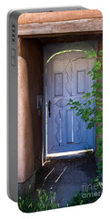 Portable Battery Charger featuring the photograph Doors Of Santa Fe by Roselynne Broussard