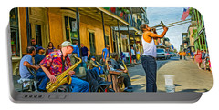 Doreen's Jazz New Orleans - Paint Portable Battery Charger by Steve Harrington