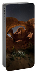 Double Arch In The Moonlight Portable Battery Charger