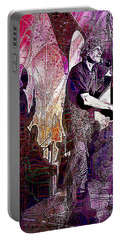 Double Bass Silhouette  Portable Battery Charger by Ian Gledhill
