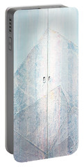 Double Doors To Peaceful Mountain Portable Battery Charger by Asha Carolyn Young