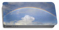 Portable Battery Charger featuring the photograph Double Rainbow At Sea by Bradford Martin