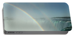 Portable Battery Charger featuring the photograph Double Rainbow by Brenda Brown